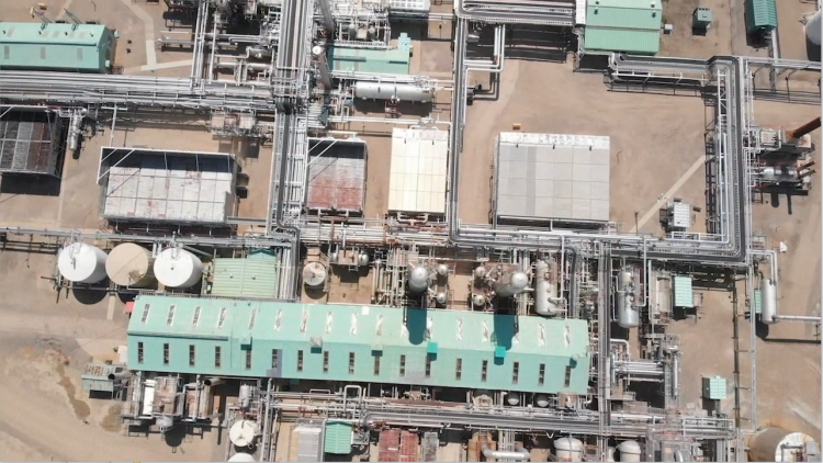 AssetCare 3D Digital Twin overhead shot of gas plant